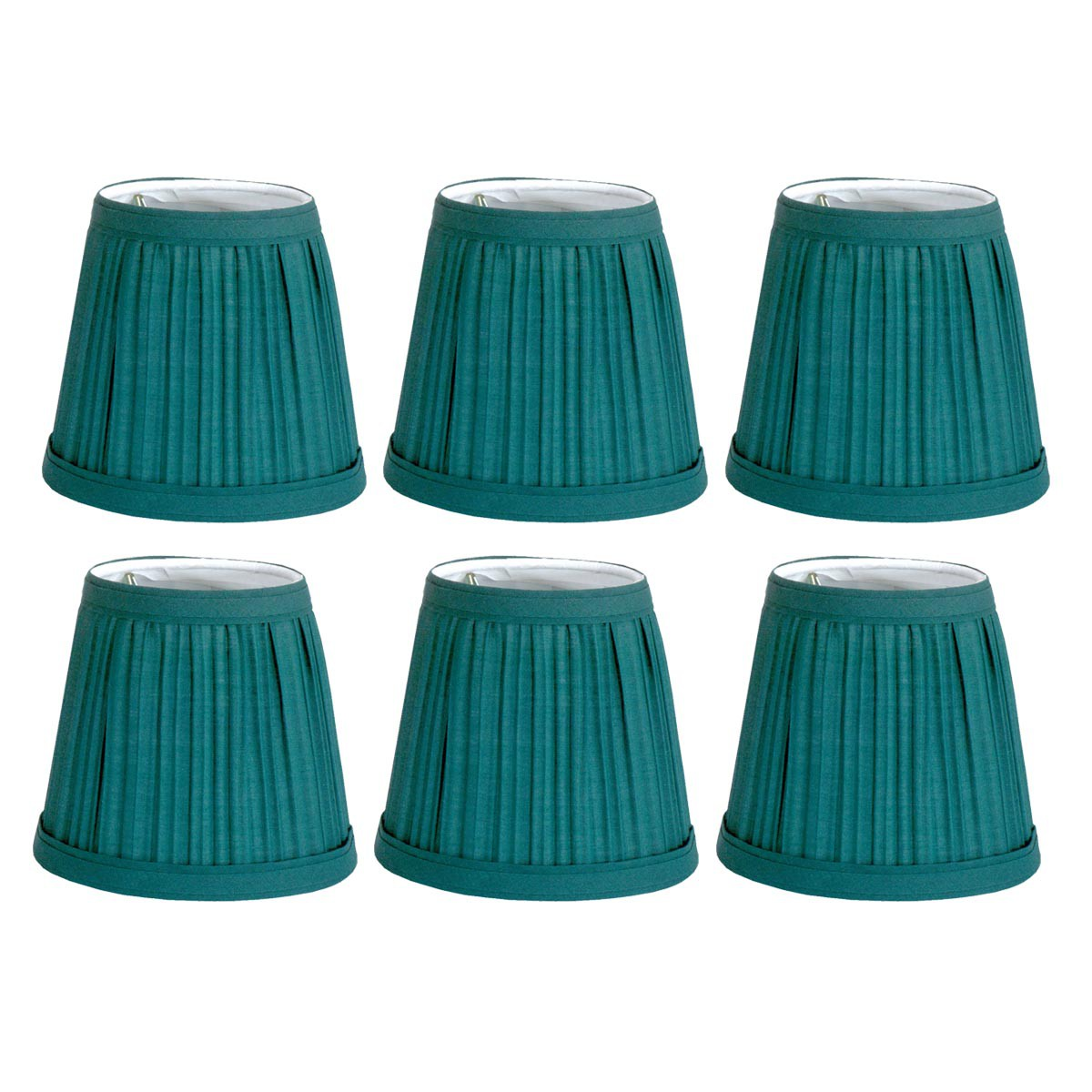 "6 Fabric Lamp Shade Hunter Green 4 1/16"" H Mini Clip On | Renovators Supply"