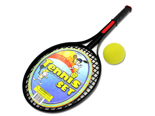 Tennis Racquet Set with Foam Ball, Pack of 24 by