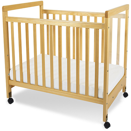 Foundations SafetyCraft Compact Clearview Fixed-Side Crib, Natural