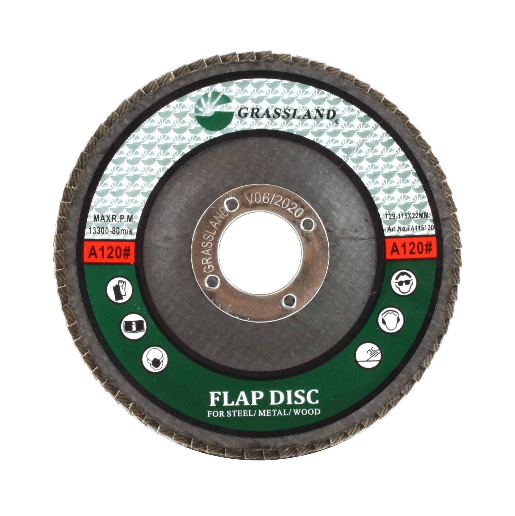 "10-PACK Set Grinding Wheels Sand Aluminum Oxide Flap Disc 4-12/"" 100-Grit"
