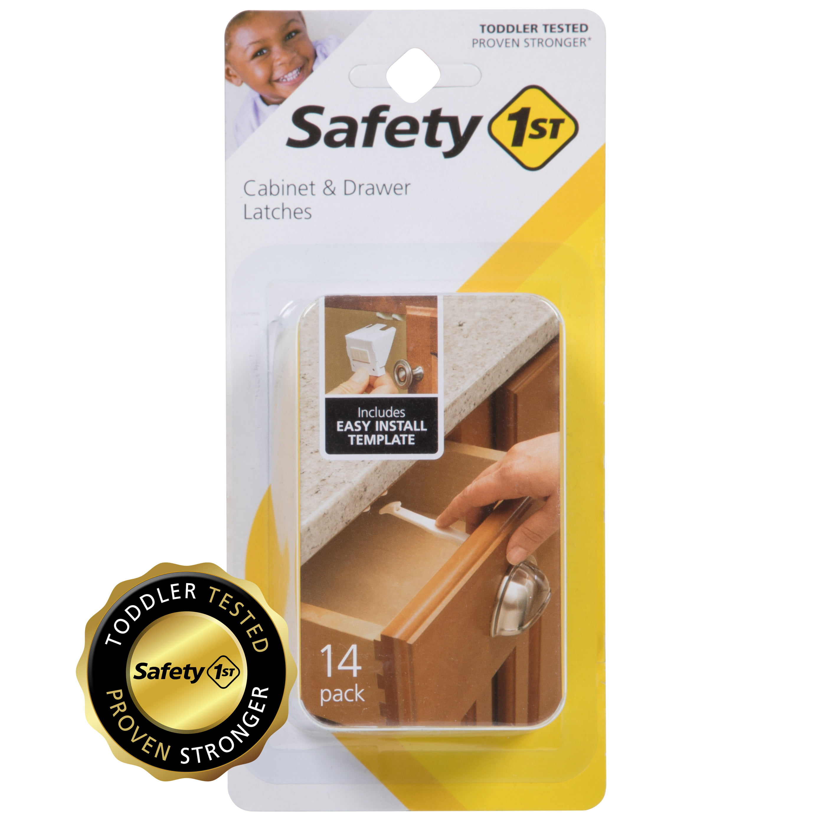 Safety 1st Cabinet Drawer Childproof Latches Baby Secure Wide Grip Lock 7 Pieces