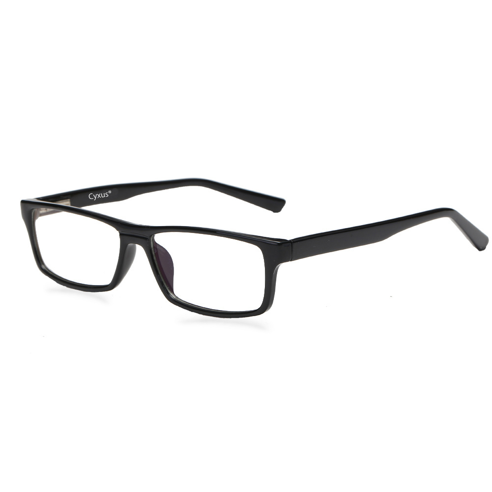 Cyxus Spring Hinges Computer Glasses for Blocking Blue Light UV Anti Eyestrain, Black Rectangle Frame Unisex(Men/Women) Eyewear - Walmart.com | Tuggl
