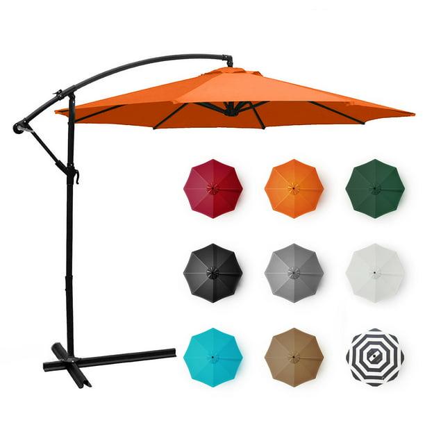 Belleze Hand Crank Cantilever Patio, 10 Ft Cantilever Patio Umbrella