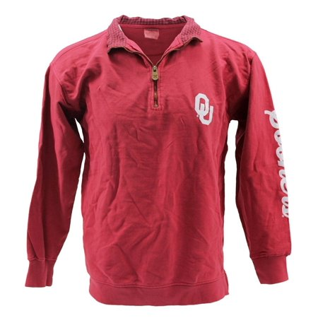 34915b97da156 Royce Apparel - Pressbox Women  s NCAA Oklahoma Sooners 1 4 Zip Long Sleeve  Sweat Shirt - Walmart.com