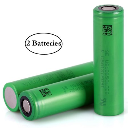 Sony / Murata IMR 18650 VTC6 3000mAh 15A Rechargeable High Drain Flat Top  Battery (2 Pack)