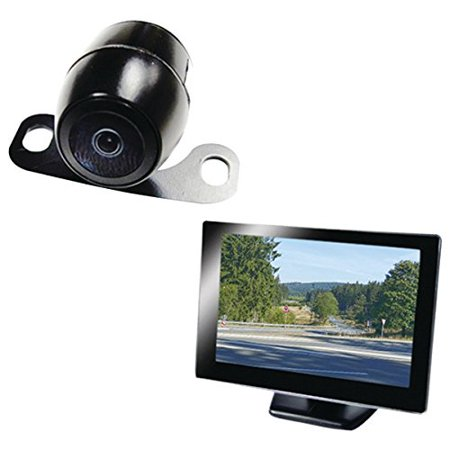 "BOYO VTC175M Backup Camera System, License Plate Camera and 5"" Monitor"