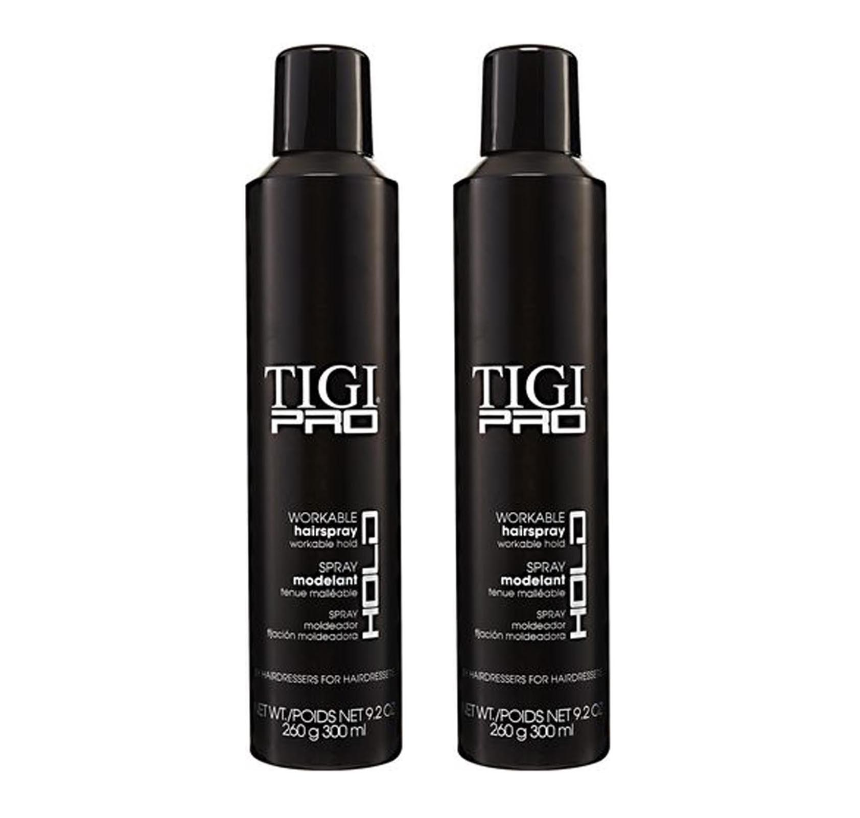 TIGI PRO Workable Hairspray Finishing Flexible Hold Styling Hair Spray (2 Pack)