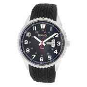 Roberto Bianci  Men's Rubber Band Black Face Watch