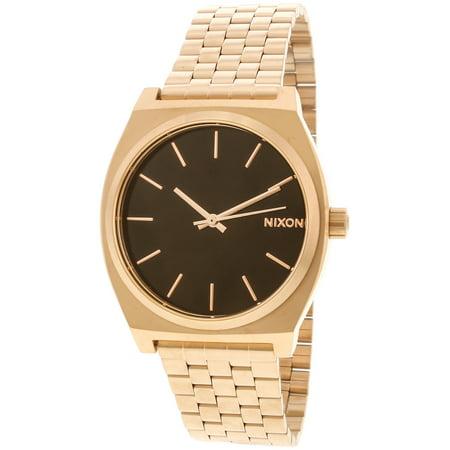 Nixon Men's Time Teller A0452598 Rose-Gold Stainless-Steel Japanese Quartz Dress - Nixon Gold Wrist Watch