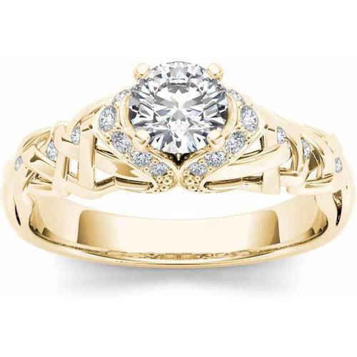 1/2 Carat T.W. Diamond Classic 14kt Yellow Gold Engagement Ring