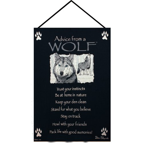 Manual Woodworkers & Weavers Advice from a Wolf Tapestry and Wall Hanging by Manual Woodworkers & Weavers