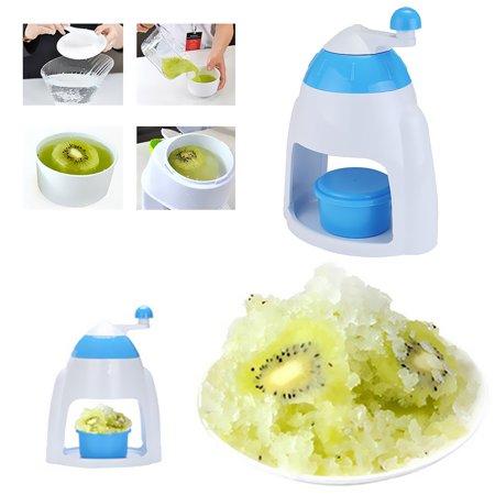 Hand Crank Manual Ice Crusher Shaver Shredding Snow Cone Maker hine Color:Blue - image 7 de 8