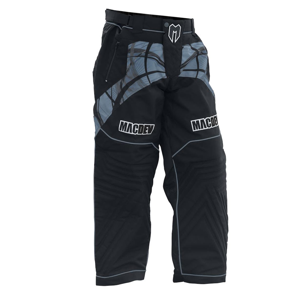 MacDev Paintball Pants - Grey/Black - Small