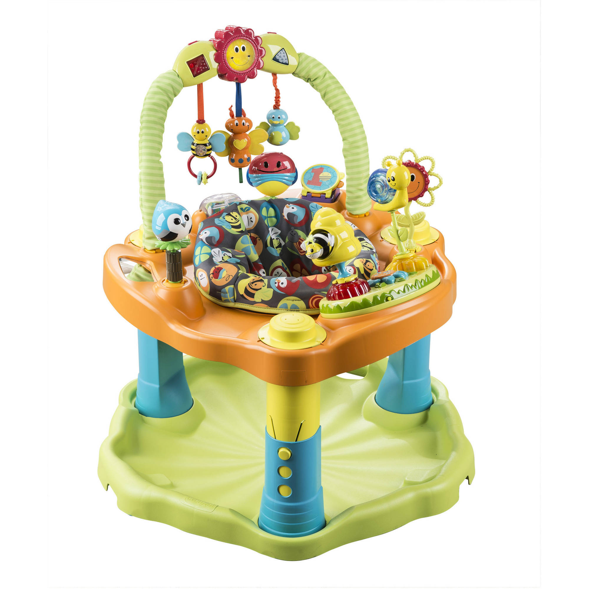Evenflo Exersaucer Double Fun Bouncing Activity Saucer, Bumbly