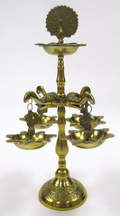 India Overseas Trading AL1682 Hanging Elephant Oil Lamp by