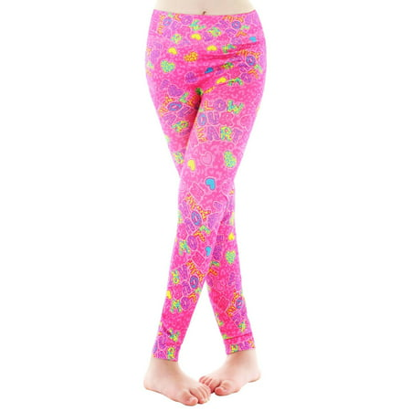 MeMoi Girls Heart Leggings | Girls Leggings from MeMoi 12--14 / Hot Pink MGS4 011 - Girls Hot Leggings