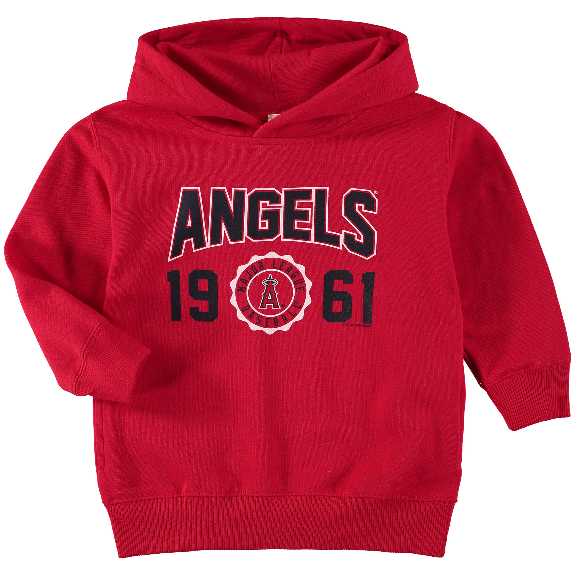 Los Angeles Angels Soft as a Grape Toddler Fleece Pullover Hoodie - Red