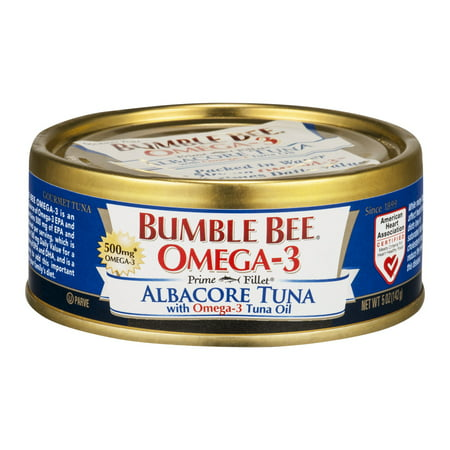 Bumble Bee Prime Fillet Solid White Albacore Tuna in Water, Omega-3, 5oz
