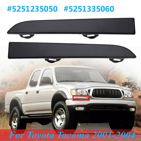 One Right/Left Front Grille Bumper Headlight Trim Panel For Toyota Tacoma 2001-2004 #5251235050, 5251335060 #TO1089108, TO1088108 ()