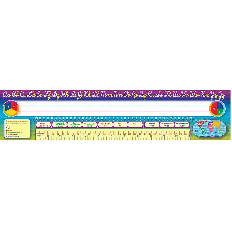 CURSIVE WRITING 36PK SUPER JUMBO NAME PLATES 4 X 18