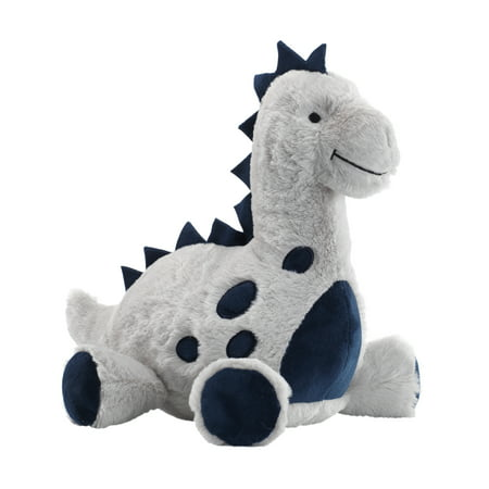 Lambs & Ivy Baby Dino Blue/Gray Plush Dinosaur Stuffed Animal Toy - Spike - Nemo Baby Stuff