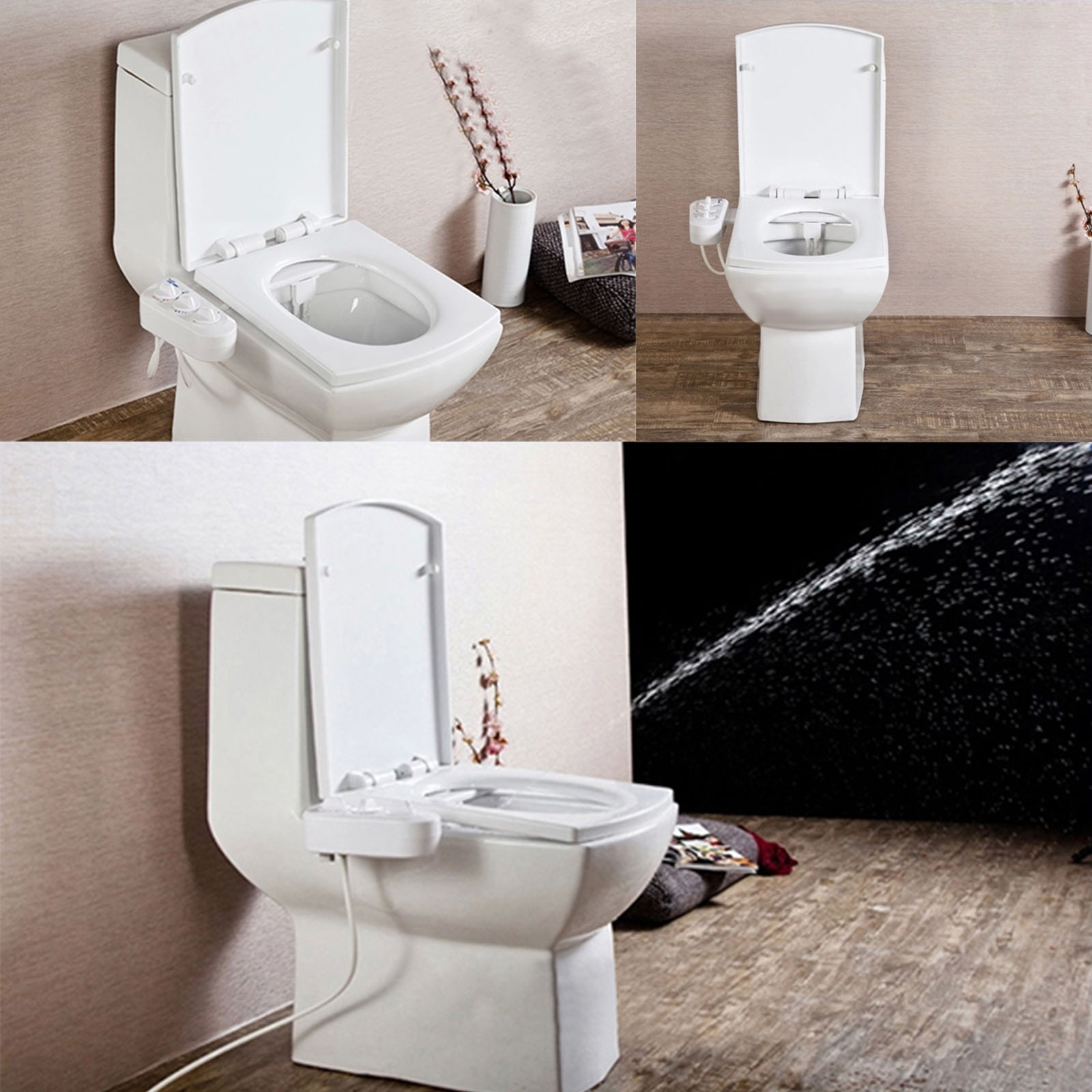 paladino bidet elongated bathroom piece toilet white one dual flush
