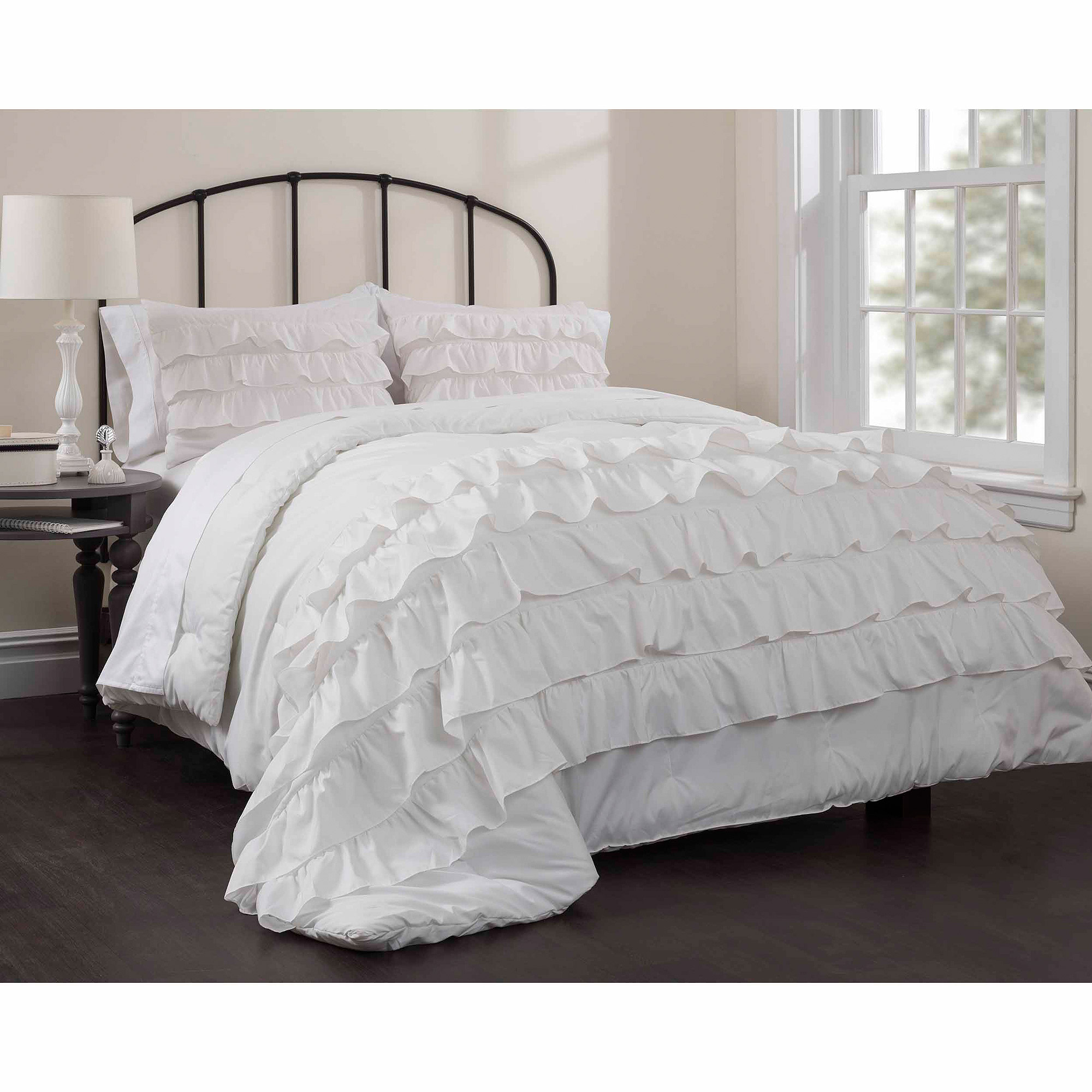 Latitude Ruby Ruffle Bedding forter Set Walmart