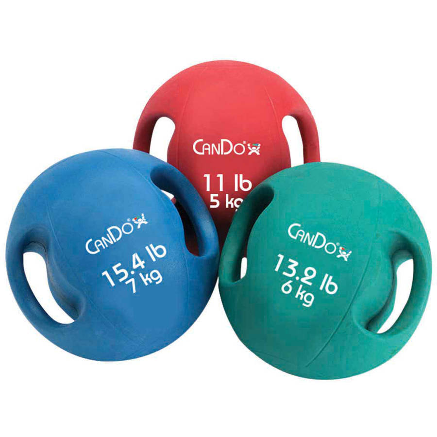 CanDo Molded Two-Handle Medicine Ball