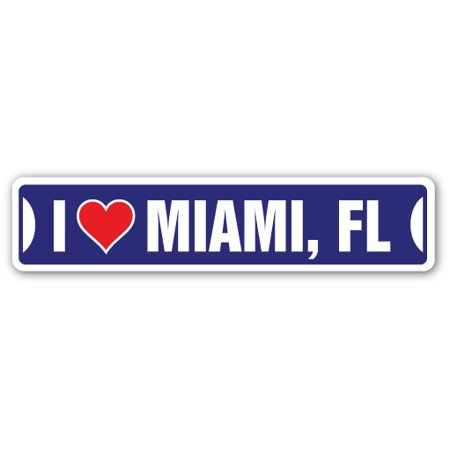 I LOVE MIAMI Street Sign south beach florida nitelife nightlife (2800 N Miami Ave Miami Fl 33127)