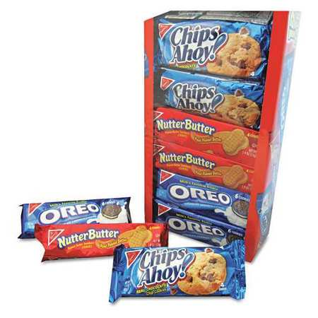 Nabisco Chips Ahoy! Nutter Butter, & Oreo Variety Cookie Pack, 23.4 Oz., 12