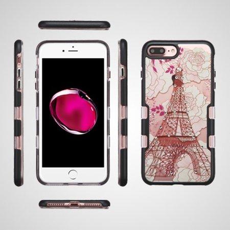 iPhone 7 Plus Case, by Insten Eiffel Tower Metallic TUFF Panoview Hybrid PC/TPU Dual Layer Case For Apple iPhone 7 Plus - Multi-Color - image 1 de 4
