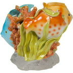 Creative Bath Rainbow Fish Resin Tooth Brush Holder, Multi-Color