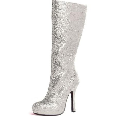 ceae8e0db156 ellie - 4 Inch Glitter Go Go Boots Platform Chunky Heel Sexy Glamour Boots  - Walmart.com