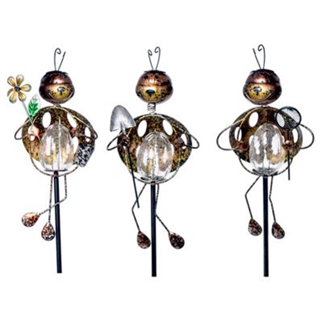 Headwind Consumer Products 830-1527 LED Solar Stake Light, Metal Bug, Assorted - Quantity 12
