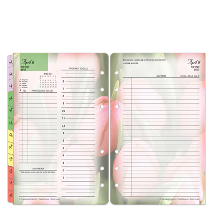 Franklin Compact Blooms Daily Ring-bound Planner - Apr 20...