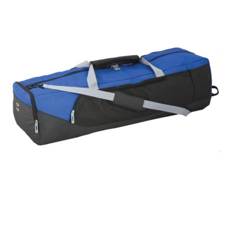 Champion Sports Heavy Duty Lacrosse Equipment Bag - Blue Keep your necessities in one place with the Champion Sports Heavy Duty Lacrosse Equipment Bag - Blue. This highly durable and portable bag is made of heavy-duty nylon equipped with a waterproof bottom, perfect for all your athletic events. This sports storage features a large main compartment that can hold full-length sticks and all your lacrosse gear and equipment. Moreover, it also comes with an adjustable shoulder strap for easy gear transport. What's more, it comes with a removable side pocket for easy customizing and/or screen printing. Enjoy our 90-day manufacturer's warranty and free shipping when you get the Champion Sports Heavy Duty Lacrosse Equipment Bag - Blue today! Lacrosse Bag Dimensions: 44 L x 15 W x 13 H / Weight: 4.33 LbsEquipment Storage Features A Heavy-Duty Nylon ConstructionEquipped With A Waterproof BottomBoasts A Huge Main Compartment That Can Fit Full-Length Lacrosse SticksComplete With An Adjustable Shoulder Strap And Detachable Side Pocket For Easy CustomizationEnjoy 90 Days Manufacturer's Warranty