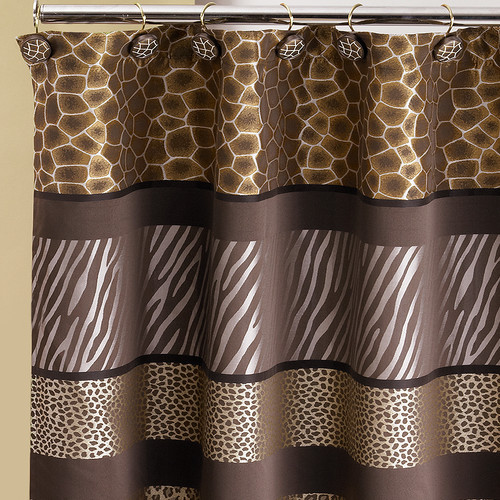 Sweet Home Collection Safari 13 Piece Shower Curtain Set