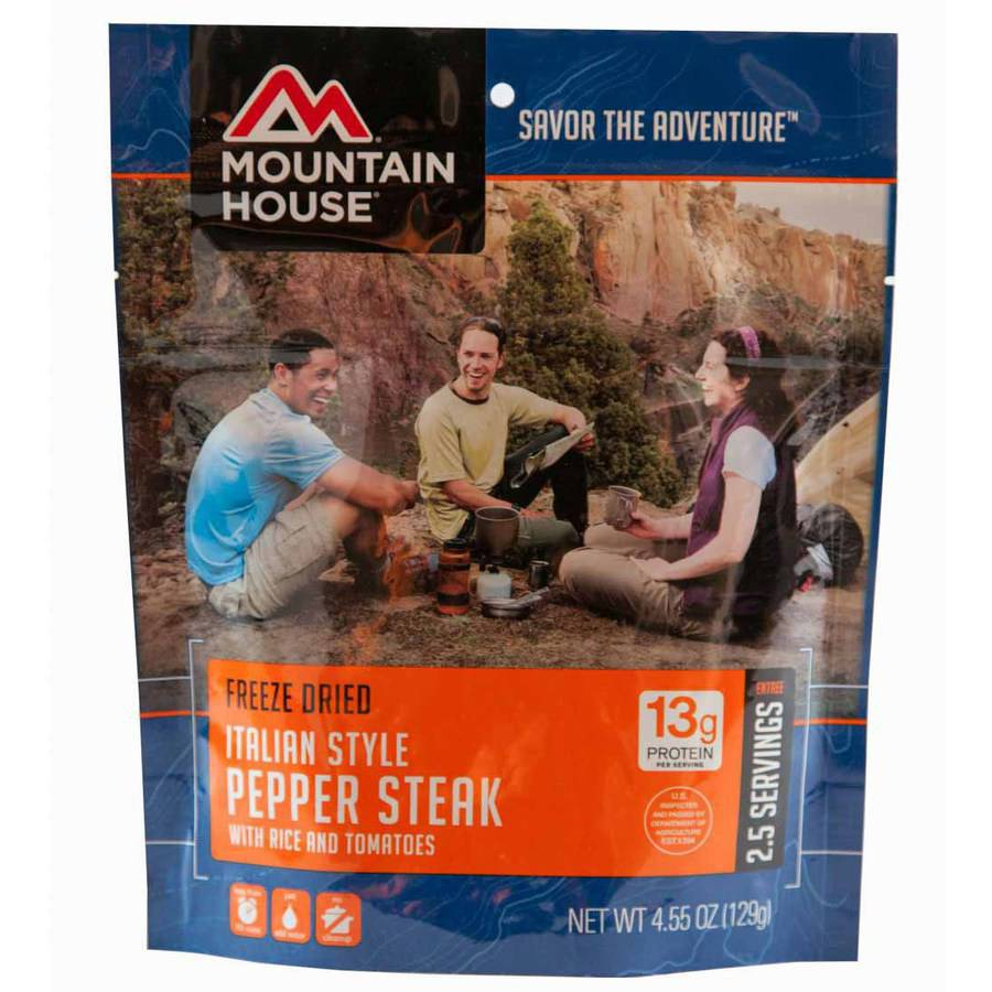 Mountain House Italian Style Pepper Steak with Rice and Tomatoes Pouch