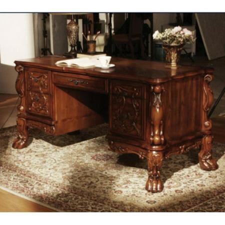 Acme Dresden Executive Desk, Cherry Oak