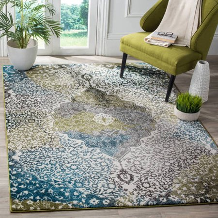 Safavieh Watercolor Edna Abstract Colorful Area Rug or Runner ()