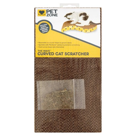 Pet zone the wave curved cat scratcher for Curved cat scratcher