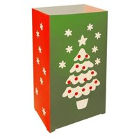 JH Specialties 44312 Luminaria Bags- Flame Resistant Christmas Tree 12 Ct