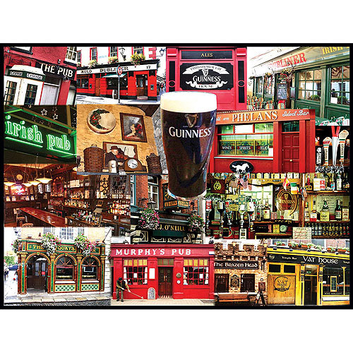 White Mountain Puzzles Irish Pubs Puzzle, 550 Pieces