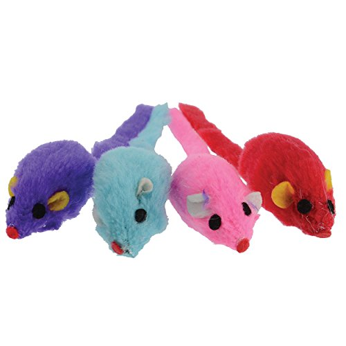 Generic Penn Plax CAT501 2.5 Suede Mouse, Assorted Colors, 4 - Pack