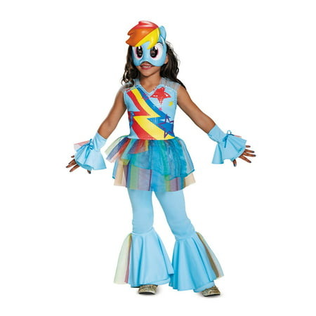 My Little Pony Girls' Rainbow Dash Movie Deluxe Costume - Rainbow Dash Halloween