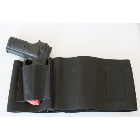 Best Belly Band Concealed Carry Gun Holster with Extra Mag Holders - Universal Fit for 1911, Revolvers, Pistols, & Hand Guns - Glock, Springfield, Taurus, MTAC, Kimber, Beretta, Ruger, Colt, &