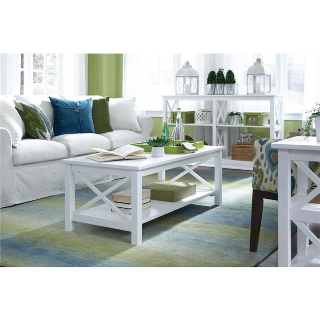 International Concepts OT08-70C Hampton Pure White Coffee Table - image 1 of 1