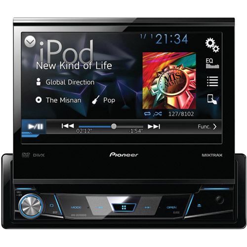 "Pioneer AVH-X6700DVD 7"" Single-DIN DVD Receiver with Flip-out Display, Android Music Support and Pandora Internet Radio"