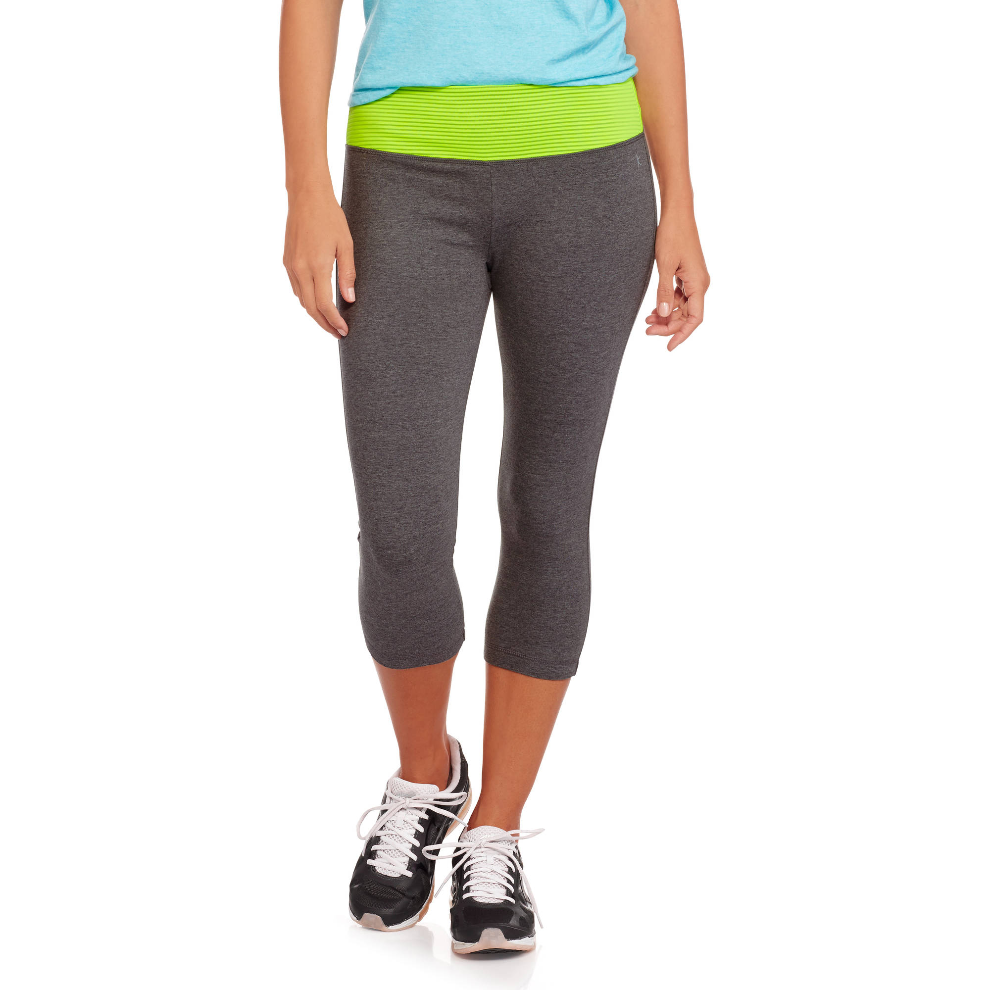 Danskin Now Women's Capri Tights with Textured Waistband
