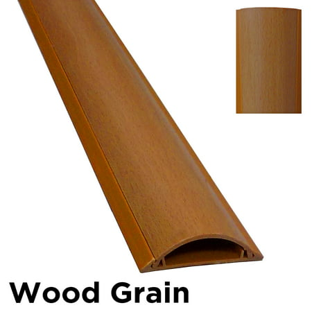 Cable Shield Cord Cover Protector Floor – Color : Wood Grain – Length : 28″ ; Width : 2″ – Electriduct